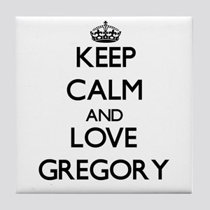 Keep calm and love Gregory Tile Coaster