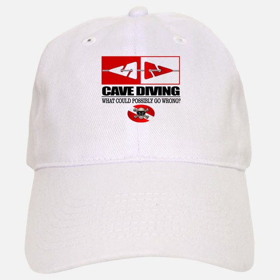 Cave Diving (Line Markers) Baseball Baseball Baseball Cap