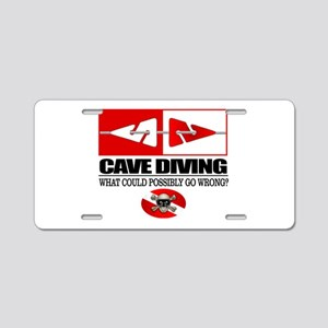 Cave Diving (Line Markers) Aluminum License Plate