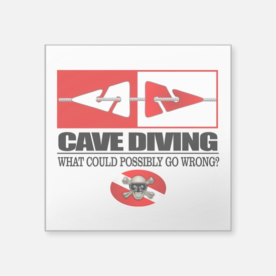 Cave Diving (Line Markers) Sticker