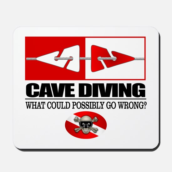 Cave Diving (Line Markers) Mousepad