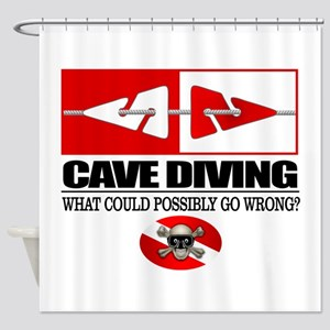 Cave Diving (Line Markers) Shower Curtain