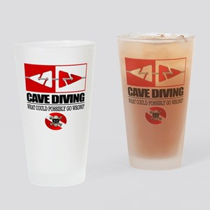 Cave Diving (Line Markers) Drinking Glass
