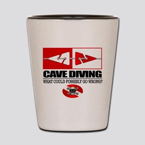 Cave Diving (Line Markers) Shot Glass