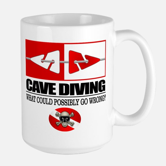 Cave Diving (Line Markers) Mugs