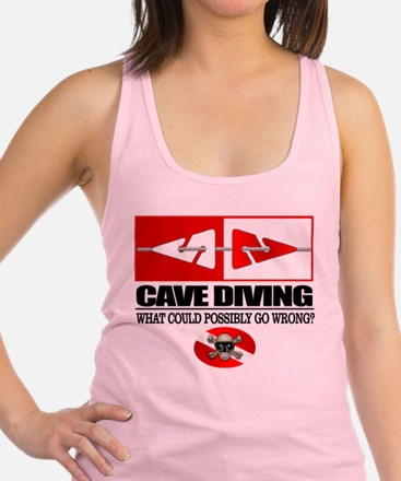 Cave Diving (Line Markers) Racerback Tank Top