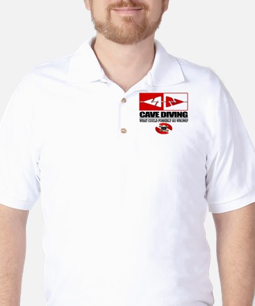 Cave Diving (Line Markers) Golf Shirt