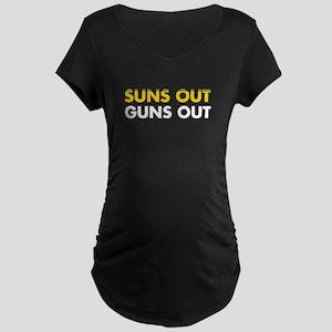 Suns Out Guns Out Maternity T-Shirt