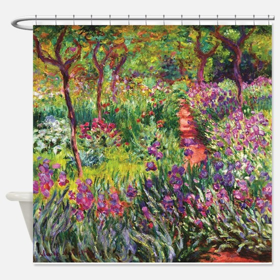 Iris Garden by Monet Shower Curtain