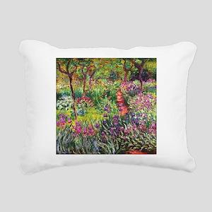 Iris Garden by Monet Rectangular Canvas Pillow