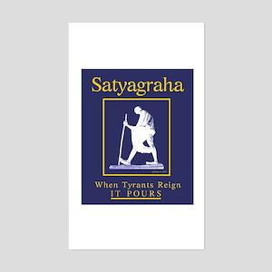 Satyagraha Rectangle Sticker