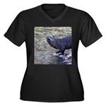 River Otter Plus Size T-Shirt