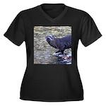 River Otter Plus Size T-Shirt