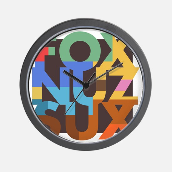 Fox_Nuz_Sux_3 Wall Clock