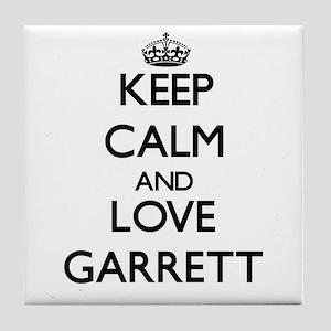 Keep calm and love Garrett Tile Coaster