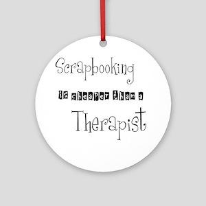 therapist Round Ornament