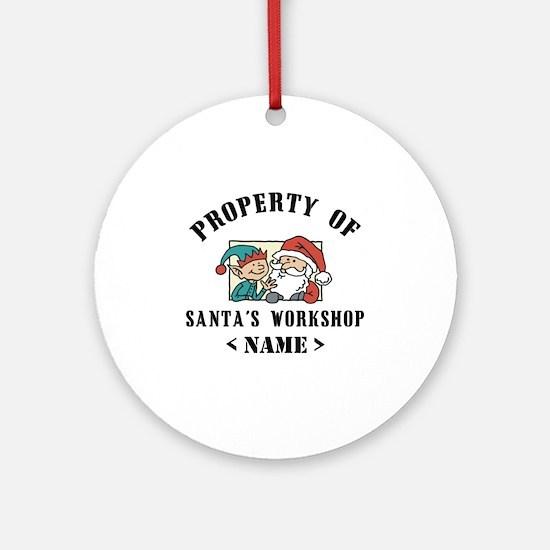 Personalize Property Santa's Workshop (Name) Ornam