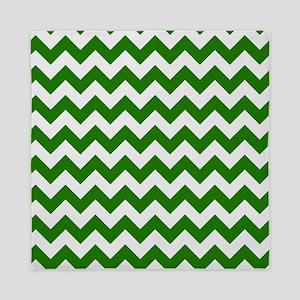 Green Chevron Pattern Queen Duvet