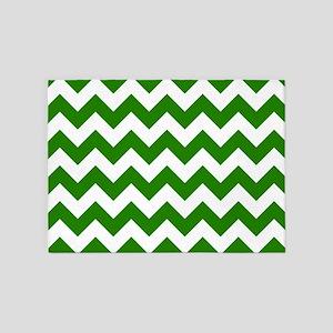 Green Chevron Pattern 5'X7'area Rug