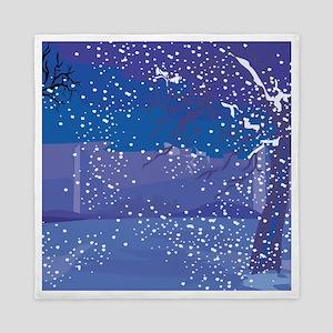 Snowy Night Queen Duvet