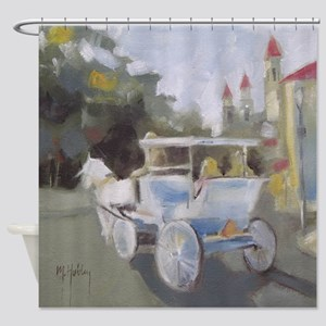 Carriage Ride Sightseeing Shower Curtain