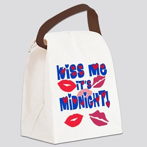 Kiss Me It's Midnight! Canvas Lunch Bag