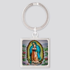 Our Lady of Guadalupe Square Keychain