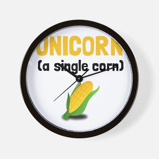 Unicorn Single Corn Wall Clock