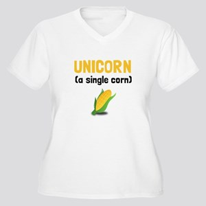 Unicorn Single Corn Plus Size T-Shirt
