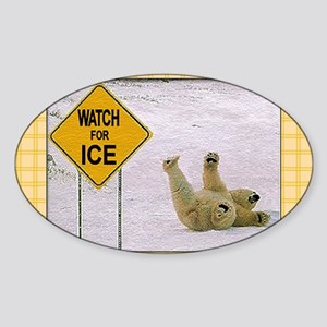 Watch for Ice 2 Sticker (Oval)