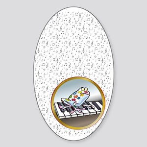 Musical Frog Sticker (Oval)