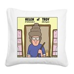 Helen of Troy Square Canvas Pillow