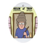 Helen of Troy Ornament (Oval)