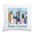 Heavenly Security Square Canvas Pillow