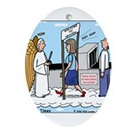 Heavenly Security Ornament (Oval)