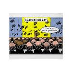Hair Club Graduation Throw Blanket