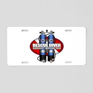 Resuce Diver (Scuba Tanks) Aluminum License Plate