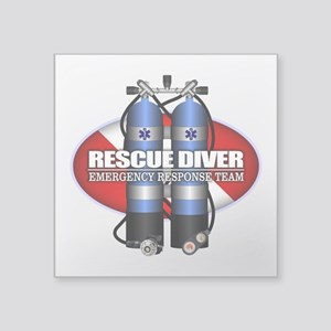 Resuce Diver (Scuba Tanks) Sticker