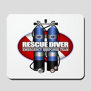 Resuce Diver (Scuba Tanks) Mousepad