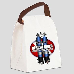 Resuce Diver (Scuba Tanks) Canvas Lunch Bag