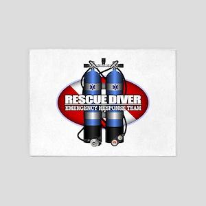 Resuce Diver (Scuba Tanks) 5'x7'Area Rug