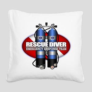 Resuce Diver (Scuba Tanks) Square Canvas Pillow