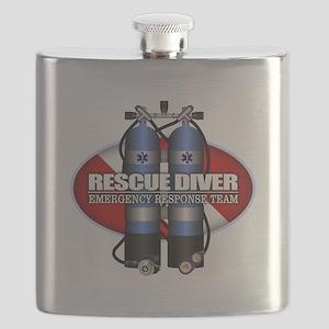 Resuce Diver (Scuba Tanks) Flask