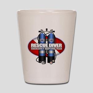 Resuce Diver (Scuba Tanks) Shot Glass
