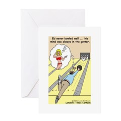 Mind in the Gutter Greeting Card