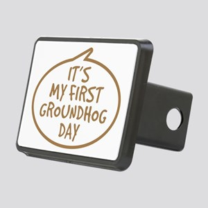 Babys First Groundhog Day Rectangular Hitch Cover