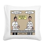 Geek Wear Square Canvas Pillow