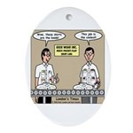 Geek Wear Ornament (Oval)