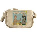 Gas Mask Messenger Bag