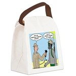 Gas Mask Canvas Lunch Bag